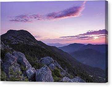 Vermont Mount Mansfield Sunrise Green Mountains Canvas Print