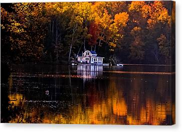 Vermont Route14 Pond Canvas Print