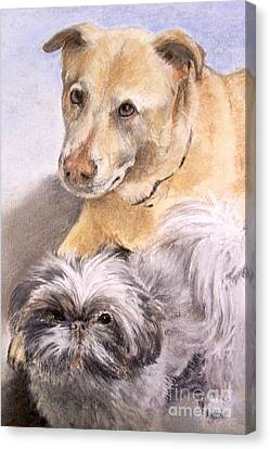 Vern And Molly Canvas Print by Mary Lynne Powers