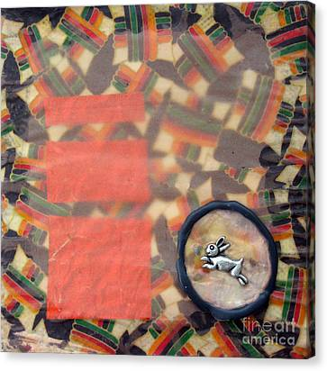 March Hare Canvas Print - Vernal Equinox Hare by Ellen Miffitt