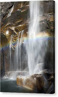 Vernal Falls And Rainbow Canvas Print by Jenna Szerlag