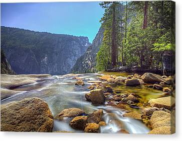 Canvas Print featuring the photograph Vernal Falls Overlook by Mike Lee