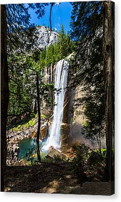 Vernal Falls Through The Trees Canvas Print
