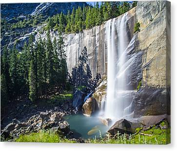 Canvas Print featuring the photograph Vernal Falls Yosemite by Mike Lee