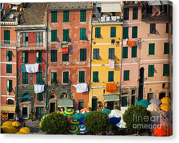 Vernazza Canvas Print - Vernazza Facades by Inge Johnsson