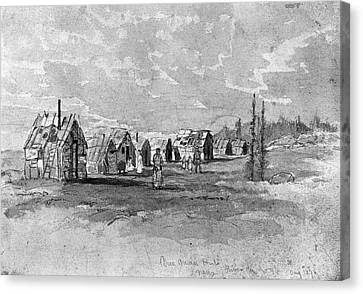 Verner Micmac Huts Canvas Print by Granger