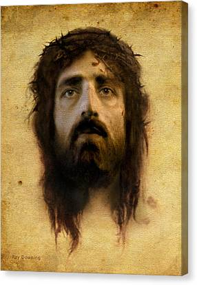 Crucifixion Canvas Print - Veronica's Veil by Ray Downing