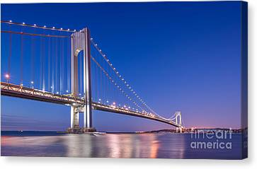 Verrazano Bridge Before Sunrise  Canvas Print