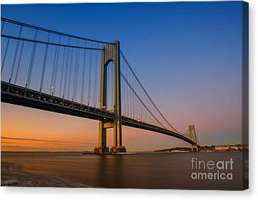 Verrazano Bridge Sunrise  Canvas Print
