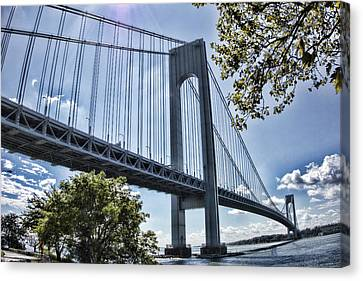 Verrazano Narrows Bridge Canvas Print by Terry Cork