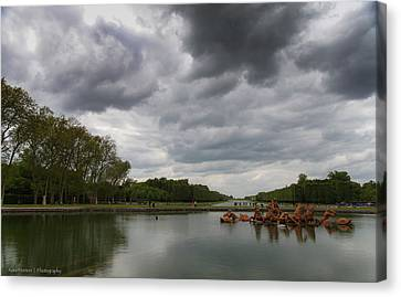 Canvas Print featuring the photograph Versailles Storm by Ross Henton