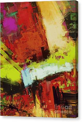 Vertical Climb Canvas Print by Keith Mills