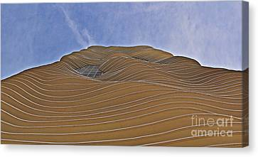 Vertical Dune - The Aqua Tower Canvas Print by Mary Machare