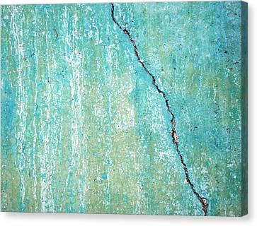 Vertical Fissure Canvas Print by Kjirsten Collier