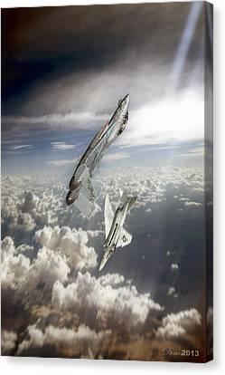 Vertical Joust Canvas Print by Dorian Dogaru