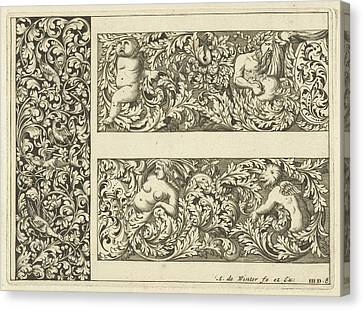 Vertical Panel And Two Friezes, Anthonie De Winter Canvas Print