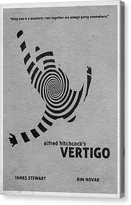 Movie Poster Canvas Print - Vertigo by Inspirowl Design