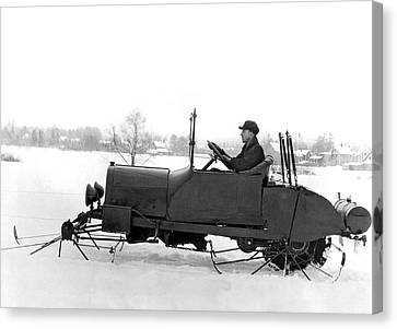 Very Early Snowmobile Canvas Print by Underwood Archives