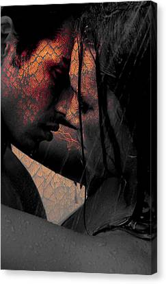 Very Hot Lovers Canvas Print by Teri Schuster