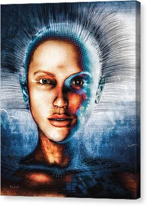 Tron Canvas Print - Very Social Network by Bob Orsillo