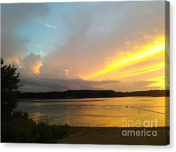 Vespers On Lithia Springs Beach At Sunset Canvas Print