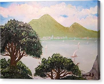 Vesuvius And Umbrella Pine Tree II Canvas Print