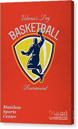 Veteran's Day Basketball Tournament Poster Canvas Print by Aloysius Patrimonio