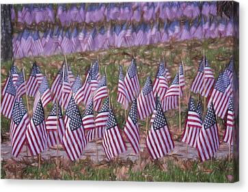 Ct Canvas Print - Veterans Day Display Color by Joan Carroll