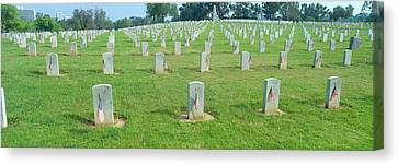 Veterans National Cemetery On Veterans Canvas Print
