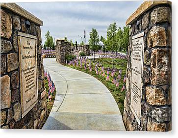Veterans Plaza Canvas Print by Keith Ducker