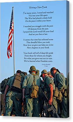 Veterans Remember Canvas Print by Carolyn Marshall