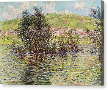 Vetheuil, View From Lavacourt, 1879 Oil On Canvas Canvas Print by Claude Monet