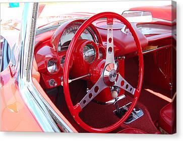 Vette Steering Wheel Canvas Print