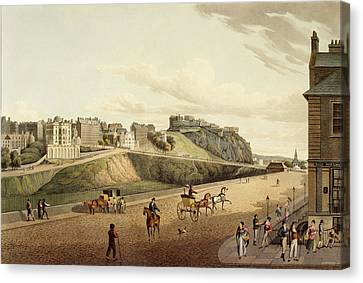 Vew Of The Old Town In Edinburgh Canvas Print by British Library