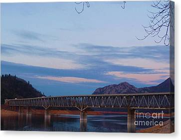 V.f.w. Memorial Bridge Canvas Print by Joshua Greeson