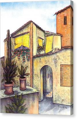 Via Roma Canvas Print by Pamela Allegretto