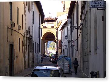 Via San Gallo In Florence Canvas Print