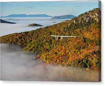 Viaduct In Autumn Canvas Print