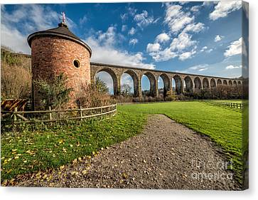 Viaduct Ty Mawr Park Canvas Print by Adrian Evans