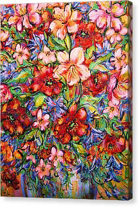 Vibrant Blooms Canvas Print by Natalie Holland
