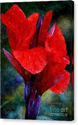 Vibrant Canna Bloom Canvas Print by Patrick Witz