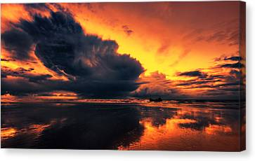 Vibrant Dawn Canvas Print by Mark Leader