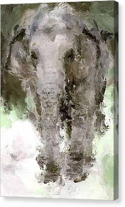 Vibrant Elephant Canvas Print by Yury Malkov