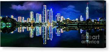 Gold Coast Shines Canvas Print by Az Jackson