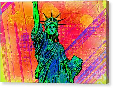 Vibrant Liberty Canvas Print by Az Jackson