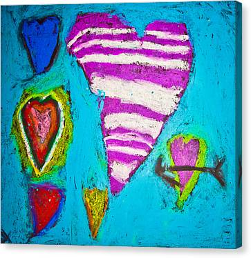 Vibrant Love Canvas Print by Sara Frank