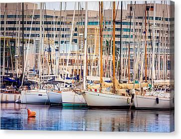 Barcelona Port Canvas Print by Pati Photography