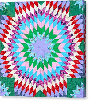 Block Quilts Canvas Print - Vibrant Quilt by Art Block Collections