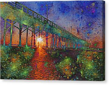 Vibrant Sunrise Canvas Print
