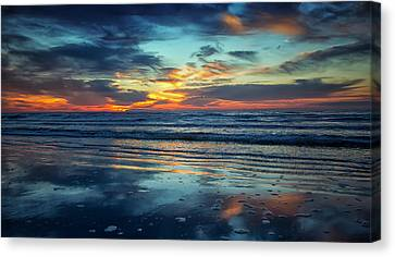 Canvas Print featuring the photograph Vibrant Sunrise  by Sharon Jones